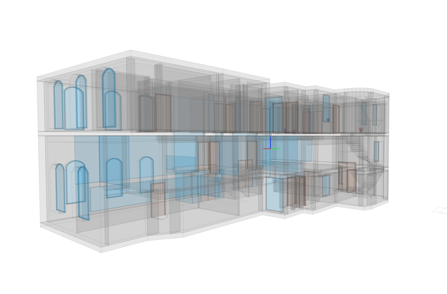 Bâtiment 3D - Vue 2 Transparent