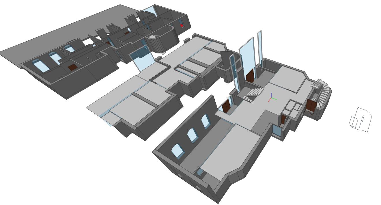 Bâtiment 3D - Vue 4 découpe Y